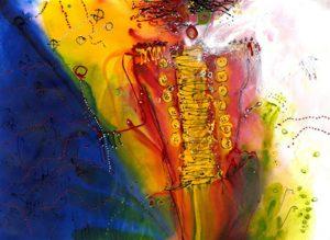 "Christine Alfery - ""Ringmaster's Coat"" - Watercolor and Acrylic"