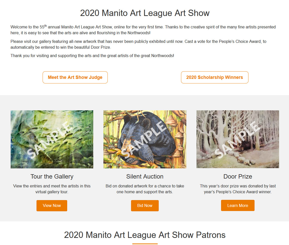 Art Show Landing Page